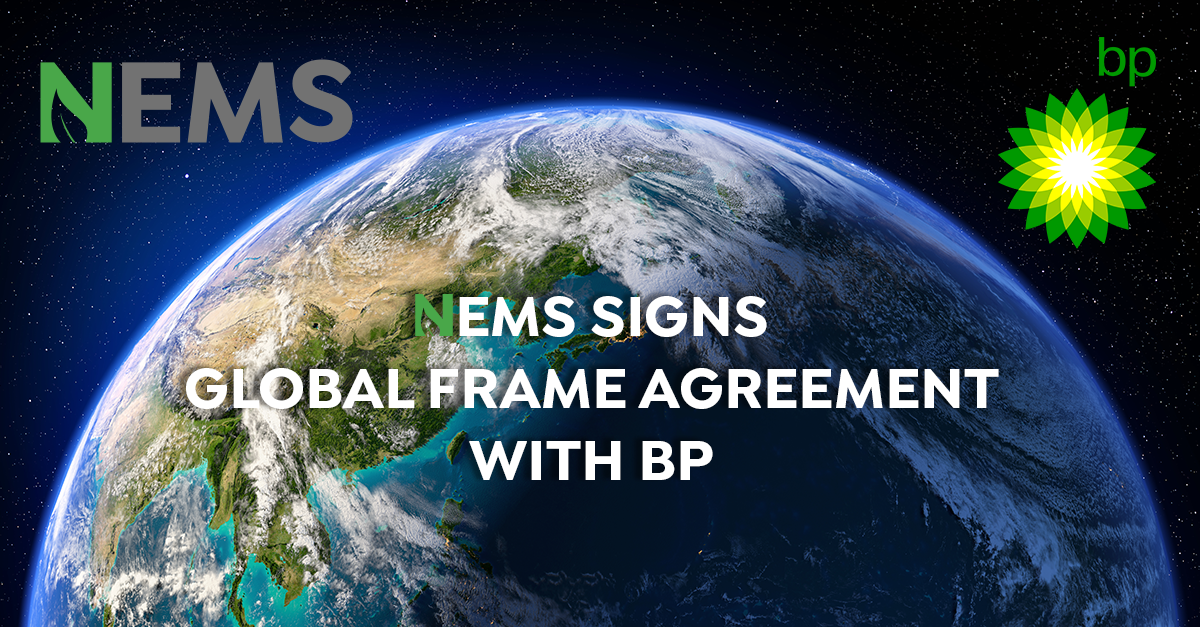 NEMS signs global frame agreement with Oil & Gas super-major BP